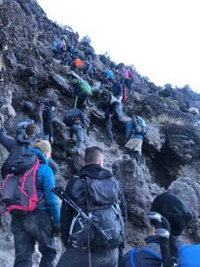 Beklimming Barranco wall Kilimanjaro