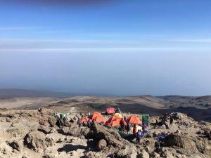 Barafu camp, basecamp voor de top