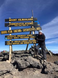 Op Uhuru peak, Kilimanjaro