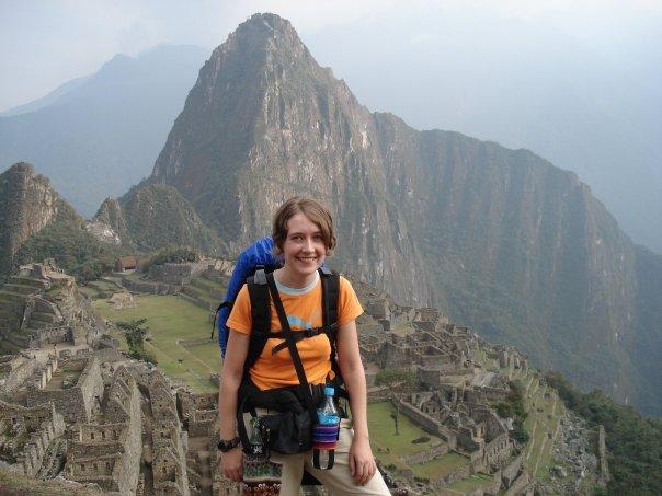 Ik voor Machu Picchu