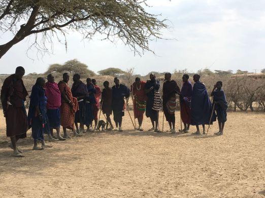 Maasai dans mannen