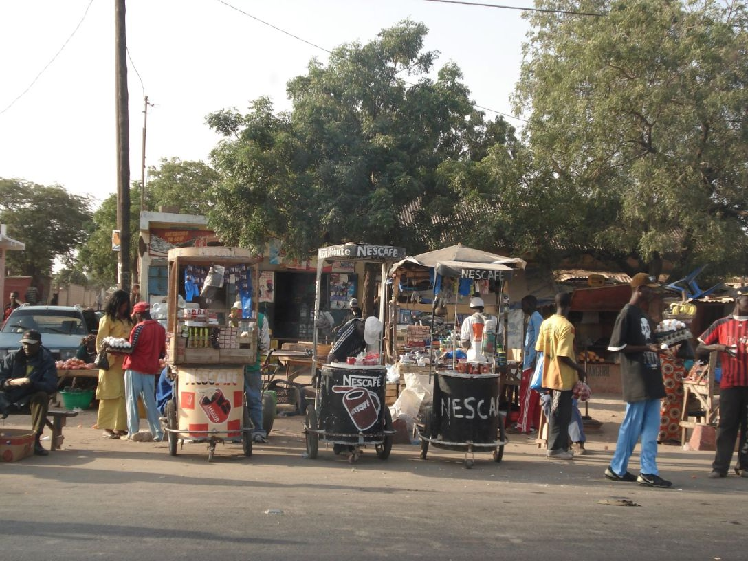 Busstation in Senegal