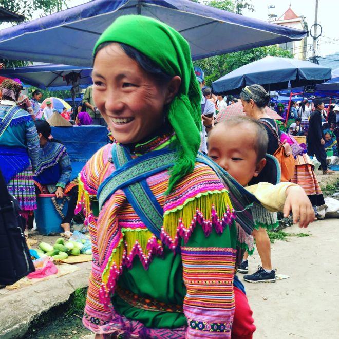 Vietnam Bac Ha markt