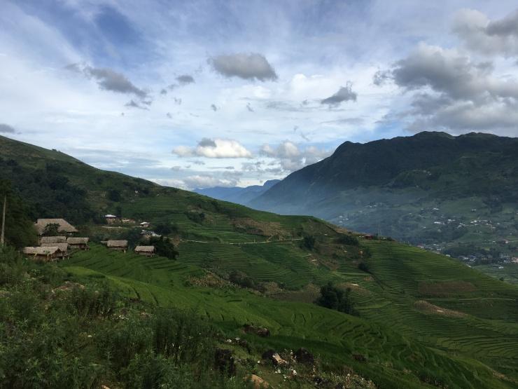 trekking sapa noord vietnam uitzicht