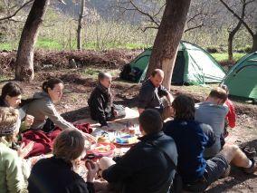 marokko atlas trekking lunch