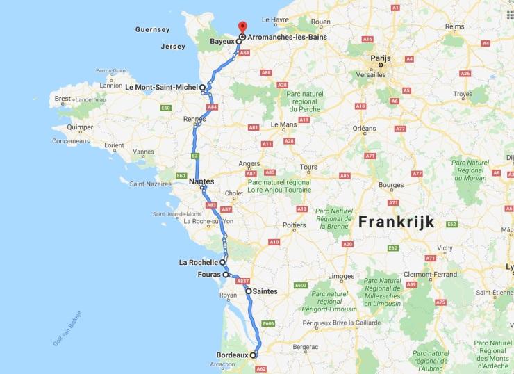 route roadtrip frankrijk