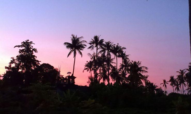Bali lovina zonsondergang