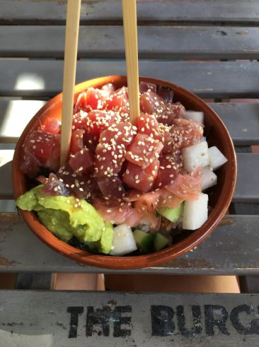 burger cafe tenerife poke bowl