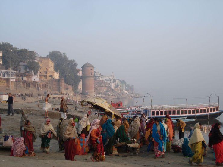 zonsopgang Assi ghat Varanasi