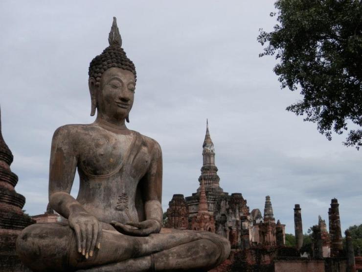Tempels in Ayutthaya, Thailand