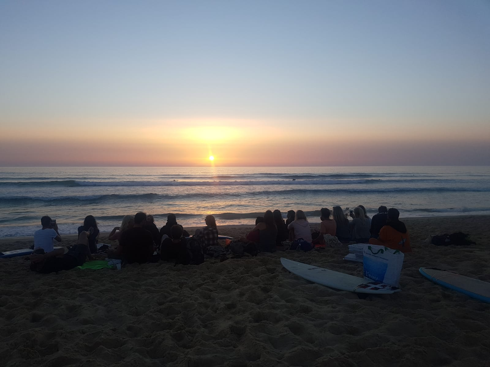 mimizan sunset surf